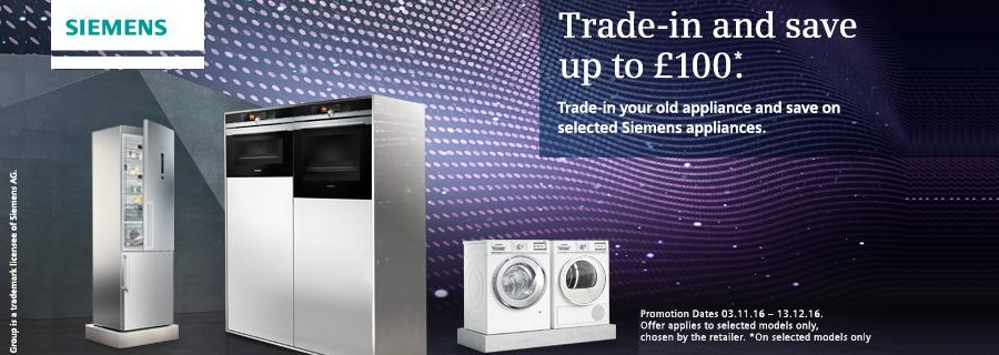 Siemens Trade In Save up to £1000