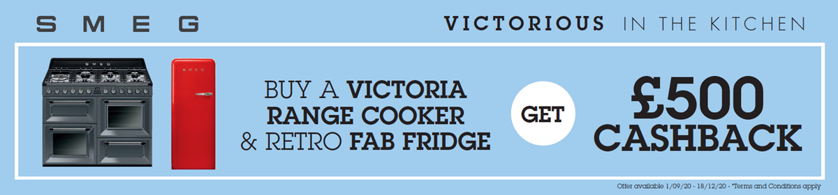 Smeg Victoria Cooker & Fab Fridge Freezer Cashback Promotion