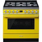 Smeg Portofino CPF9GPYW Yellow Dual Fuel Range Cooker