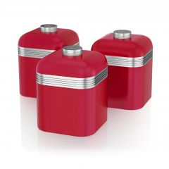 Swan SWKA1020RN Red Retro Storage Canisters
