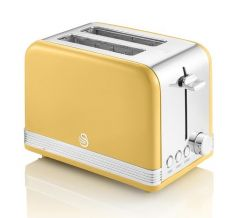 Swan ST19010ON Orange Retro Style 2 Slice Toaster