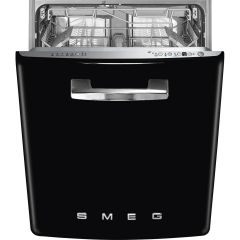 Smeg DI13FAB3BL Black Retro Full Size Integrated Dishwasher