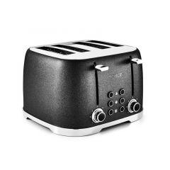 Tower Glitz T20030 Black 4 Slice Toaster