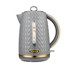 Tower T10052GRY Grey Empire Textured Jug Kettle
