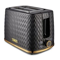 Tower T20054BLK Black Art Deco Toaster