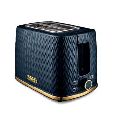 Tower T20054MNB Blue Art Deco Toaster