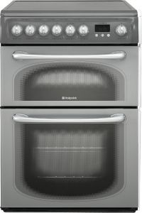Hotpoint 60HEGS 60cm Double Oven Electric Cooker