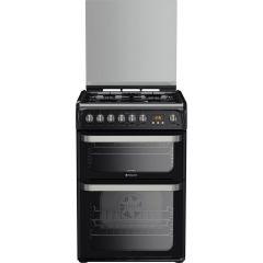 Hotpoint HUD61KS Black 60cm Dual Fuel Cooker