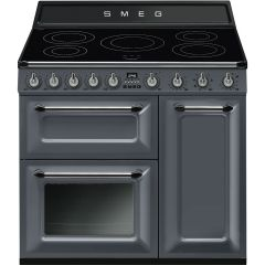 Smeg Victoria TR93IGR Slate Grey 90cm Electric Range Cooker