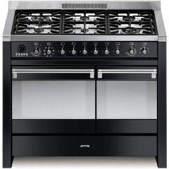 Smeg Opera A2BL-81 Black 100cm Dual Fuel Range Cooker