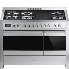 Smeg Opera A3-81 120cm Stainless Steel Dual Fuel Range Cooker