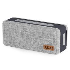 Akai A58087 Compact Grey Bluetooth Speaker