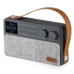 Akai A61028 Grey Rechargeable DAB+ Radio