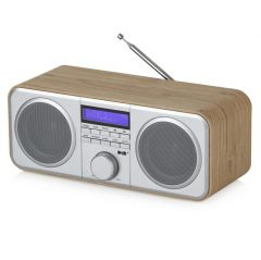Akai A61037 Compact Stereo DAB+ Radio In Oak