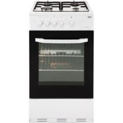 Beko BCSG50W White 50cm Gas Single Oven Cooker