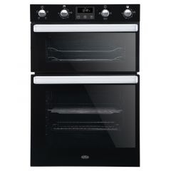 Belling BI902FP Built-in Double Oven In Black