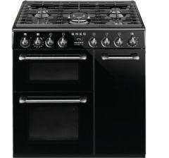 Smeg BU93B Black 90cm Dual Fuel Range Cooker