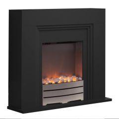 Warmlite Canterbury WL45013 Black Fireplace Suite
