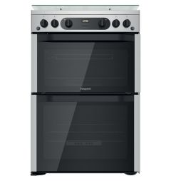 Hotpoint HDM67G0CCX 60cm Gas Cooker In Stainless Steel