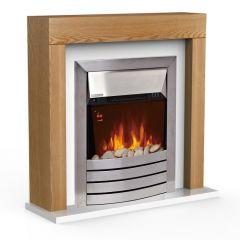 Warmlite WL45041OAK Chester Oak Fireplace Suite