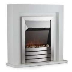 Warmlite Chester WL45041W White Fireplace Suite
