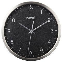 Tower Glitz T878503BLK Black 30cm Wall Clock