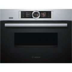 Bosch CMG656BS6B Compact Oven With Microwave, Brushed Steel