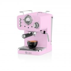 Swan SK22110PN Pink Retro Espresso Coffee Machine