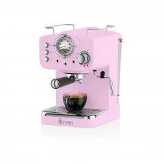 Swan SK22110PN Pink Retro Espresso Coffee Machine
