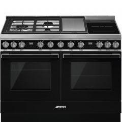 Smeg CPF120IGMPBL Black Dual Fuel Range Cooker