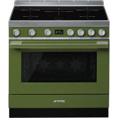 Smeg CPF9IPOG Olive Green Electric Range Cooker