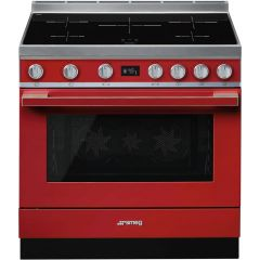 Smeg CPF9IPR Red Electric Range Cooker