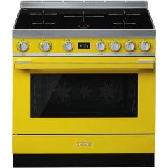 Smeg CPF9IPYW Yellow Electric Range Cooker