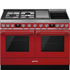 Smeg CPF120IGMPR Red Dual Fuel Range Cooker