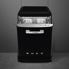 Smeg DF13FAB3BL Black Retro Style Freestanding Dishwasher