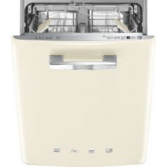 Smeg DI13FAB3CR Cream Retro Style Built-in Dishwasher