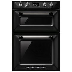 Smeg DOSF6920N1 Black Victoria Double Built In Oven