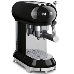 Smeg ECF01BLUK Retro Style Espresso Coffee Machine In Black