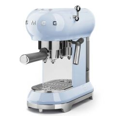 Smeg ECF01PBUK Retro Style Espresso Machine In Pastel Blue