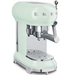 Smeg ECF01PGUK Espresso Coffee Machine In Pastel Green