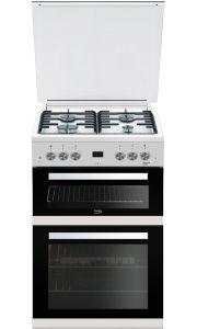 Beko EDG6L33W 60cm Double Oven Gas Cooker, White