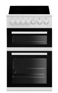 Beko EDVC503W 50cm Double Oven Electric Cooker, White