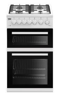 Beko EDVG505W 50cm Double Oven Gas Cooker