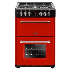 Belling Farmhouse 60DF 60cm Dual Fuel Cooker, Red