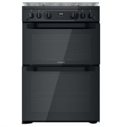 Hotpoint HDM60D0CCB Black 60cm Gas Cooker