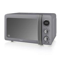 Swan SM22030GRN Grey Retro Style Microwave