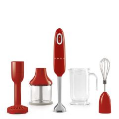 Smeg HBF02RDUK Red Hand Blender With Accessries