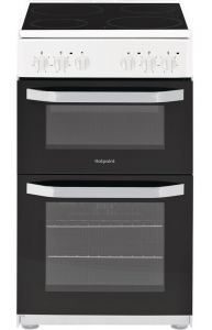 Hotpoint HD5V92KCW White 50cm Electric Cooker