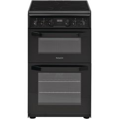 Hotpoint HD5V93CCB Black 50cm Electric Cooker