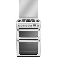 Hotpoint HUD61P White Dual Fuel Cooker